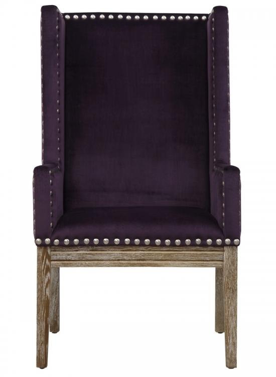 Tribeca Purple Velvet Chair