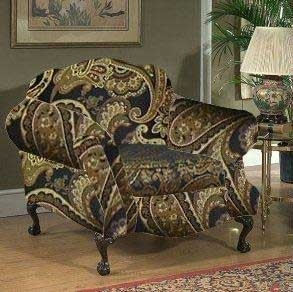 Queen Elizabeth Chair - Candy Tuft Storm - Triad Upholstery