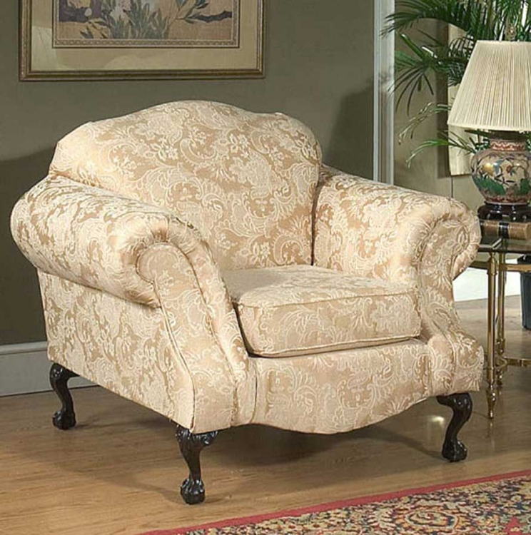 Queen Elizabeth Chair - Madison Straw - Triad Upholstery