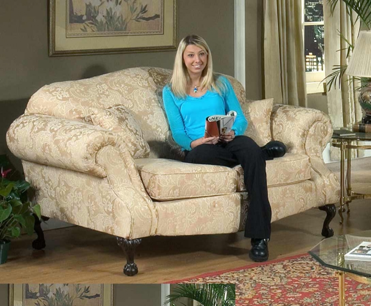 Queen Elizabeth Loveseat - Madison Straw - Triad Upholstery