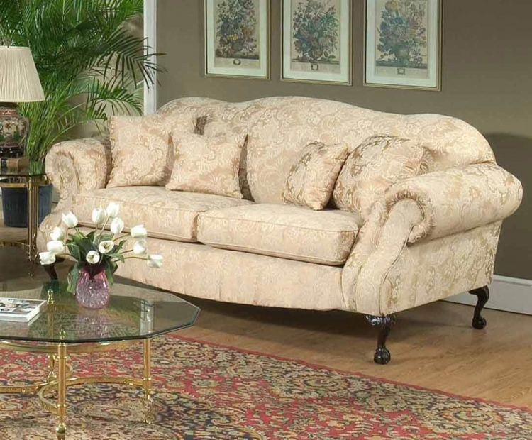 Queen Elizabeth Sofa - Madison Straw - Triad Upholstery