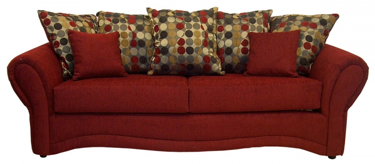 Jasmine Sofa Set - Pouncer Scarlet - Triad Upholstery