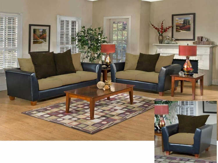 Jane Sofa Set - Bulldozer - Mocha - Triad Upholstery