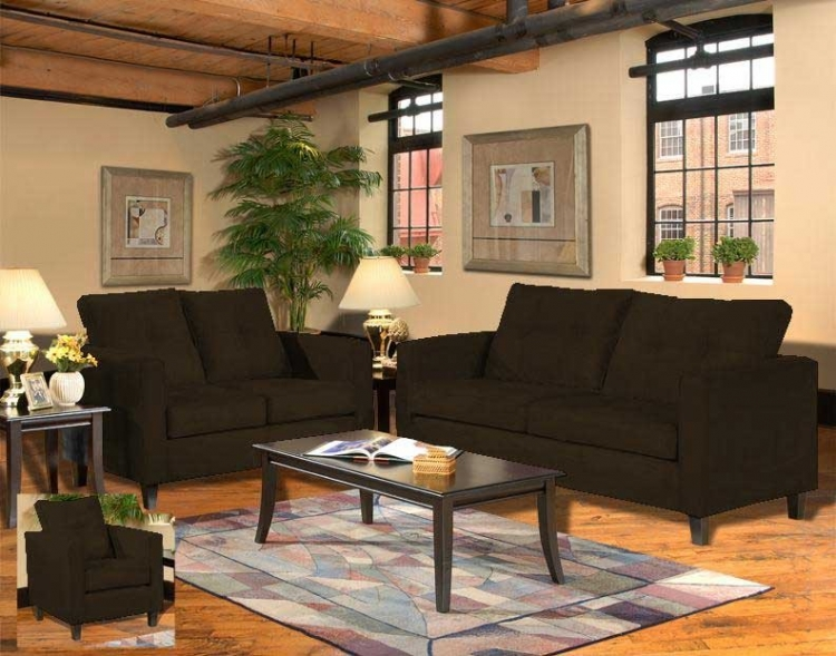 Heather Sofa Set - Bulldozer - Java - Triad Upholstery