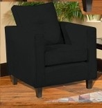 Heather Chair - Bulldozer Black - Triad Upholstery