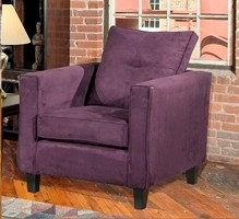 Heather Chair - Bulldozer Eggplant - Triad Upholstery