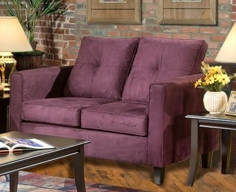 Heather Loveseat - Bulldozer Eggplant - Triad Upholstery
