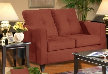 Heather Loveseat - Bulldozer Persimmon - Triad Upholstery