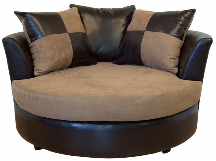 Alex Swivel Chair - Bulldozer Mocha - Triad Upholstery