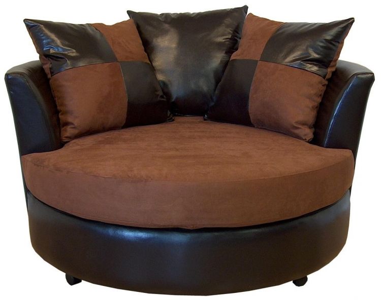 Alex Swivel Chair - Mission Cinnamon - Triad Upholstery