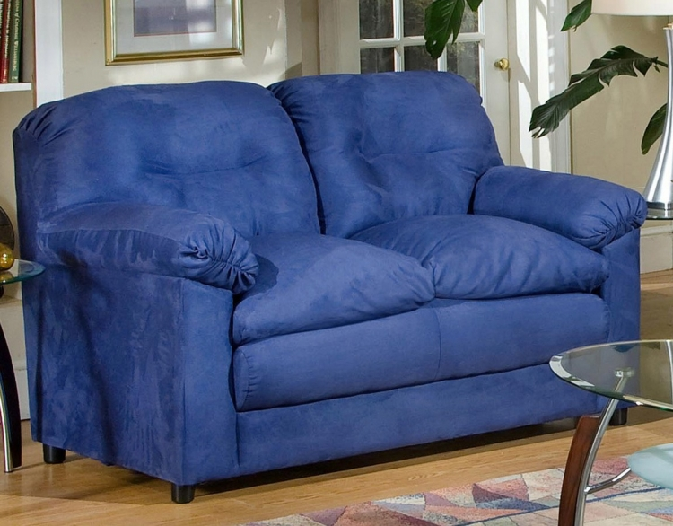 Lisa Loveseat - Cobalt Blue - Triad Upholstery