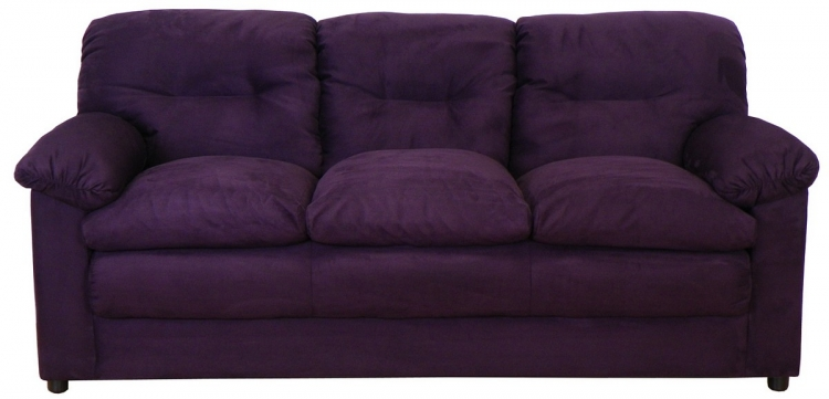Lisa Sofa Set - Bulldozer Eggplant - Triad Upholstery