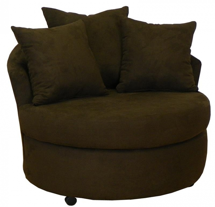 Alexa Swivel Chair - BullJava - Triad Upholstery