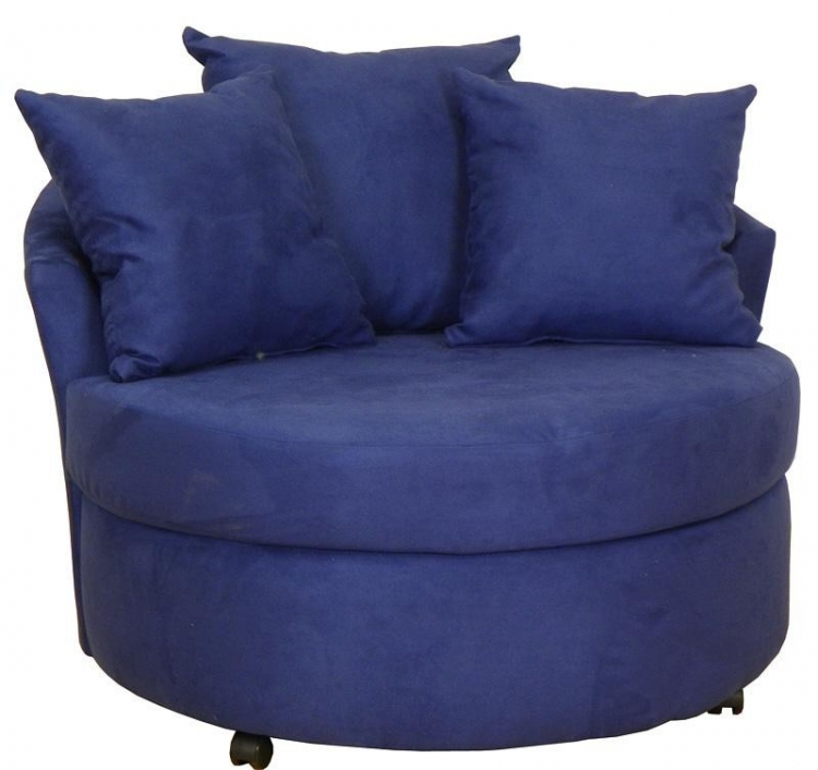 Alexa Swivel Chair - Mission Cobalt - Triad Upholstery