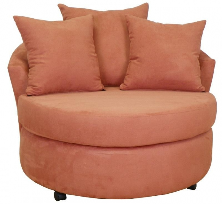 Alexa Swivel Chair - Persimmon - Triad Upholstery