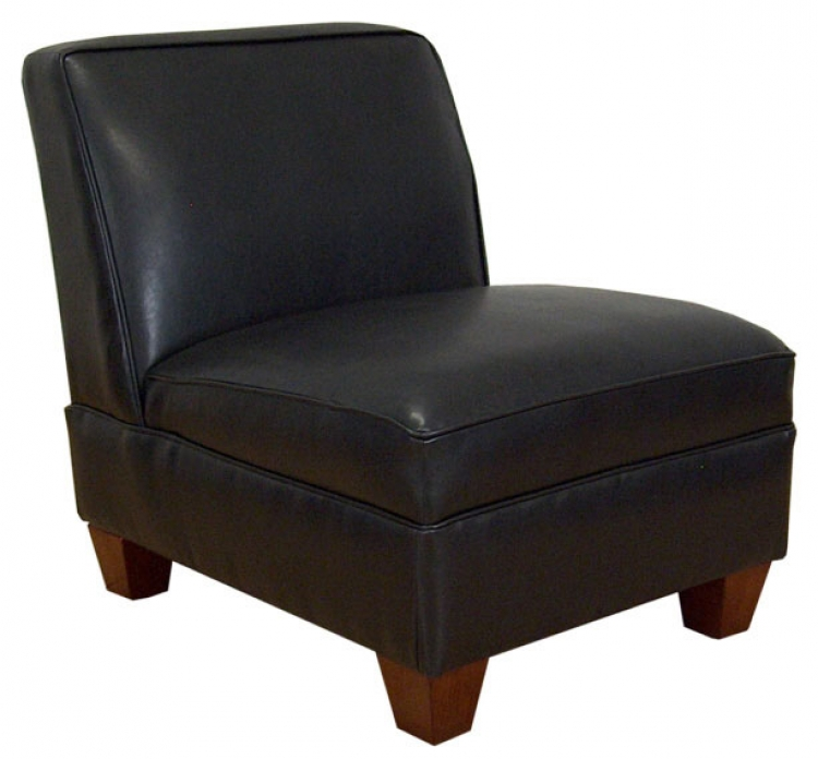 Sally Armless Chair - Bike Black - Triad Upholstery
