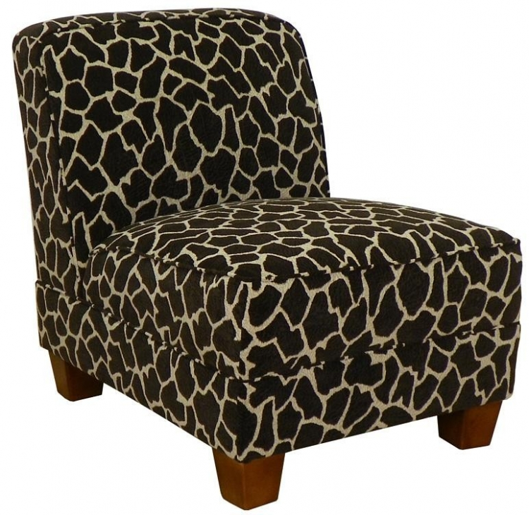 Sally Armless Chair - Giraffe - Triad Upholstery