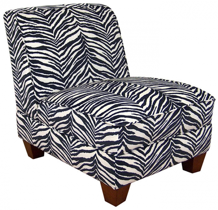 Sally Armless Chair - Zebra - Triad Upholstery