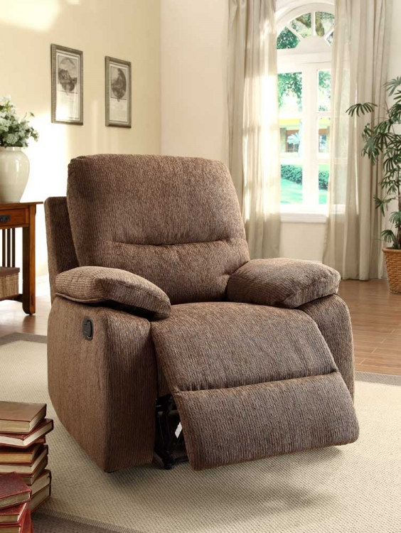 Marianna Reclining Chair - Dark Brown Chenille - Homelegance