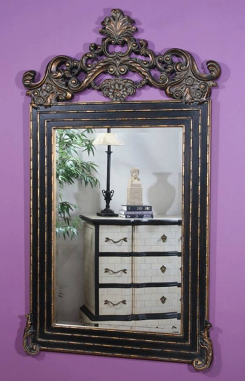 Marbella Black Victorian Mirror - Ultimate Accents