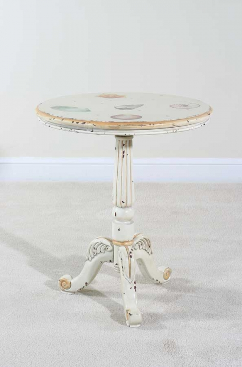 Sandtiques Pedestal End Table - Ultimate Accents