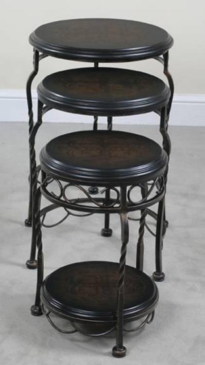 Emerson Iron Base Round Nest Tables - Ultimate Accents