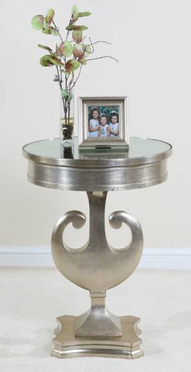 Contempo Silver Side Table - Ultimate Accents