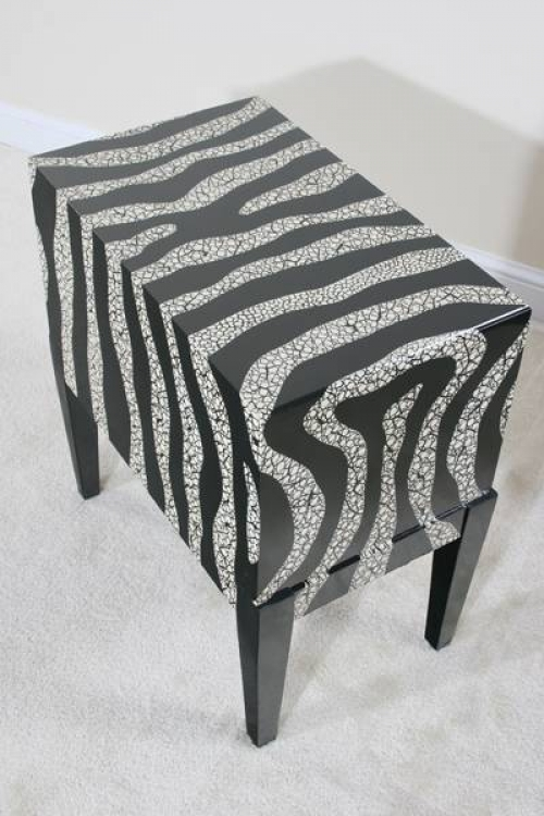 Contempo Zebra Side Console - Ultimate Accents