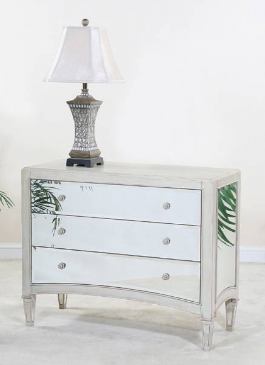 Manhattan Mirrored 3 Drawer Chest - Ultimate Accents
