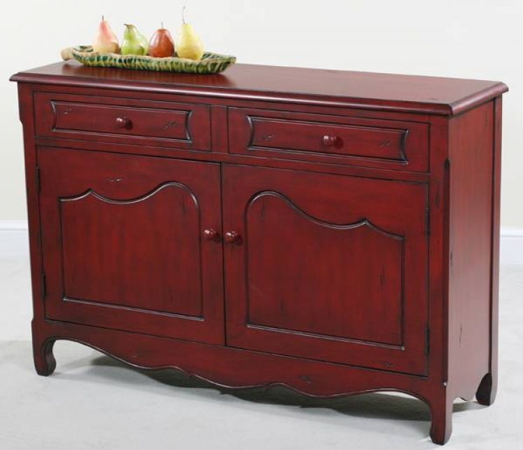 Rachel Distressed Red Cupboard - Ultimate Accents