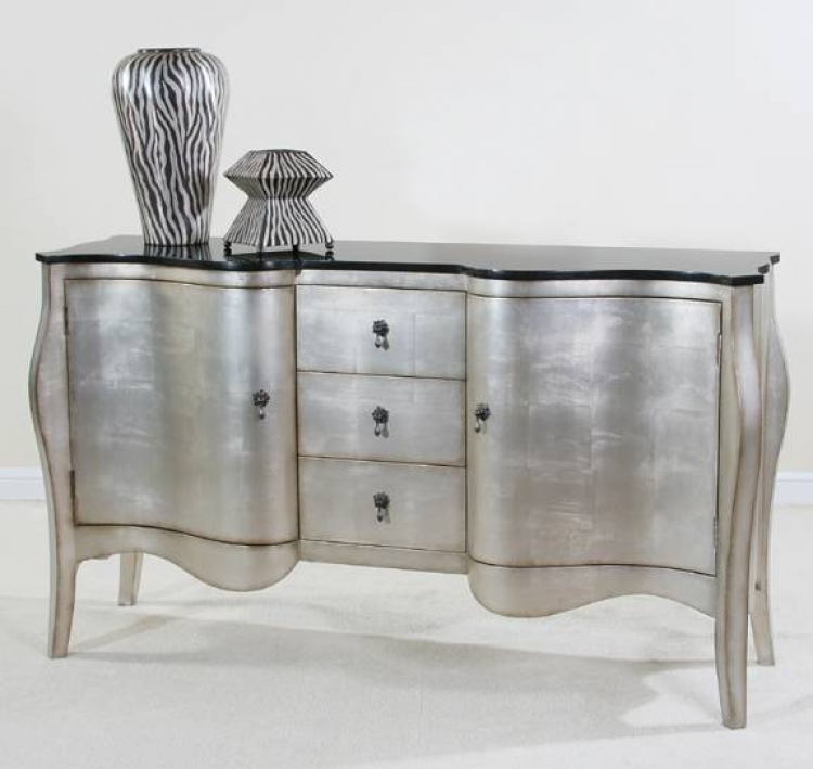 Contempo Wood Top Credenza - Ultimate Accents