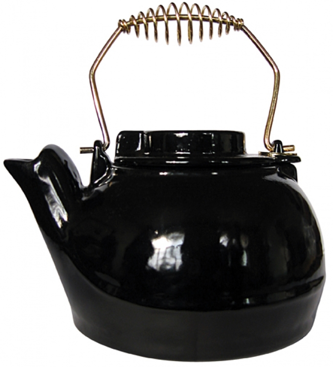 2.5 Quart Porcelain Coated Black Kettle - Uniflame