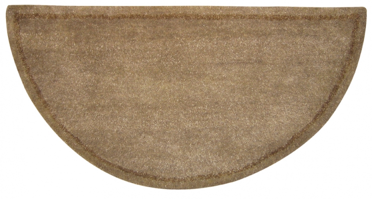 Hand-Tufted Wool Hearth Rug - Beige - Uniflame