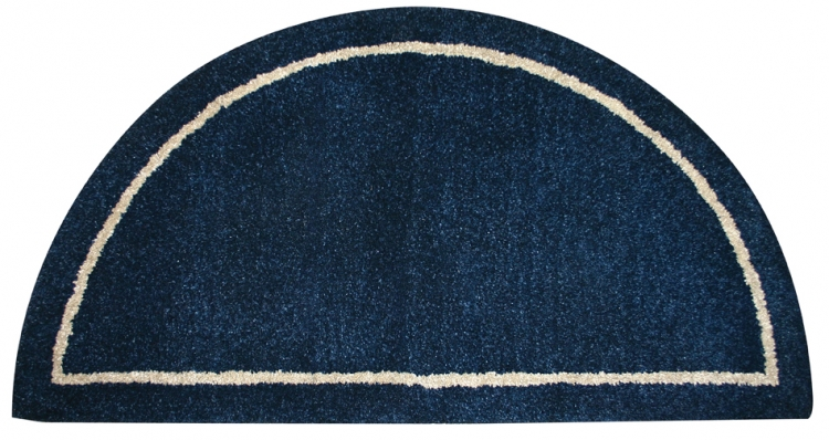 Hand-Tufted Wool Hearth Rug - Deep Blue - Uniflame