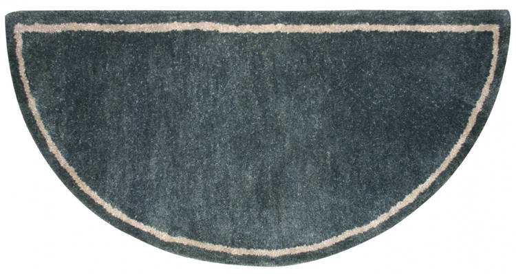 Hand-Tufted Wool Hearth Rug - Forest Green - Uniflame