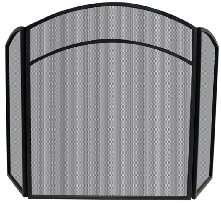 3 Fold Black Arch Top Screen - Uniflame