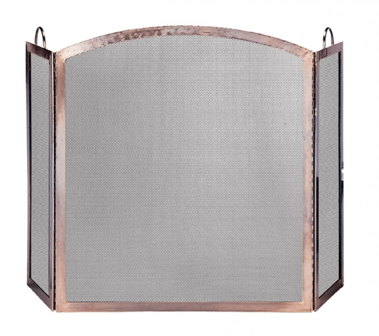 3 Panel Screen with Arched Center Panel - Uniflame