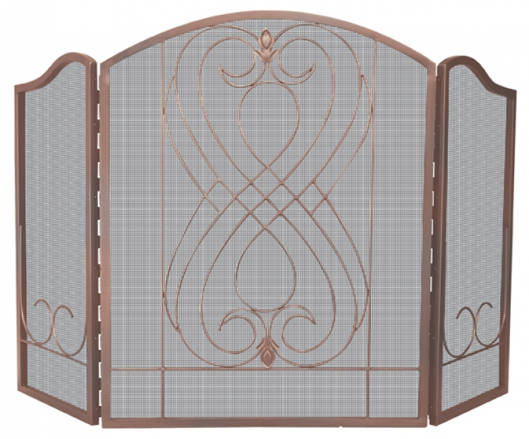 Venetian Bronze 3 Fold Screen with Loops - Uniflame