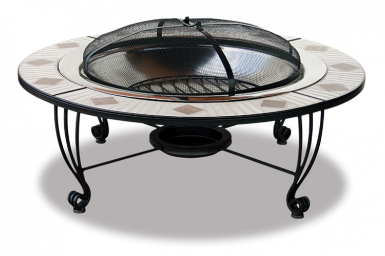 45 Inch Stainless Steel Outdoor Firebowl - Uniflame