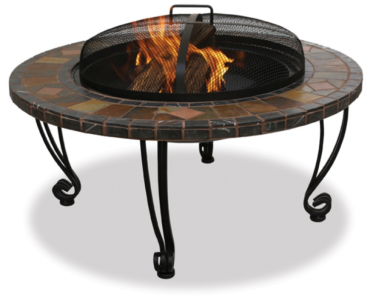 34 Inch Slate and Marble Firebowl - Uniflame
