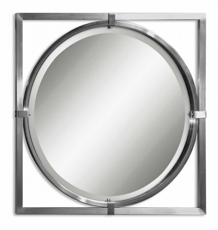 Kagami Brushed Nickel Mirror