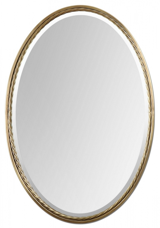 Casalina Brass Oval Mirror