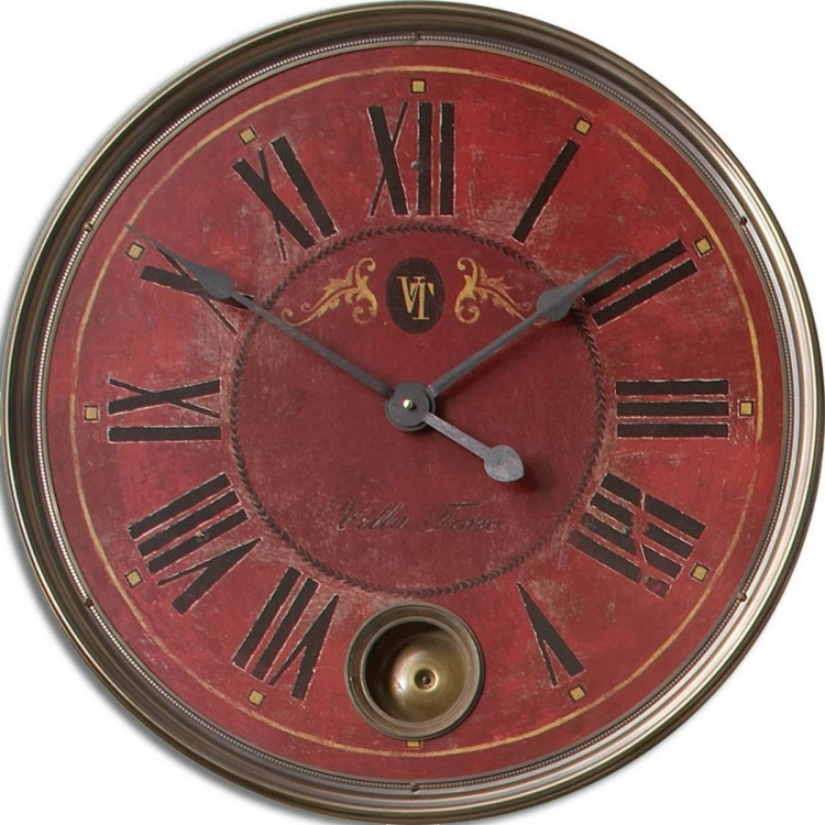 Regency Villa Tesio 23 Red Wall Clock