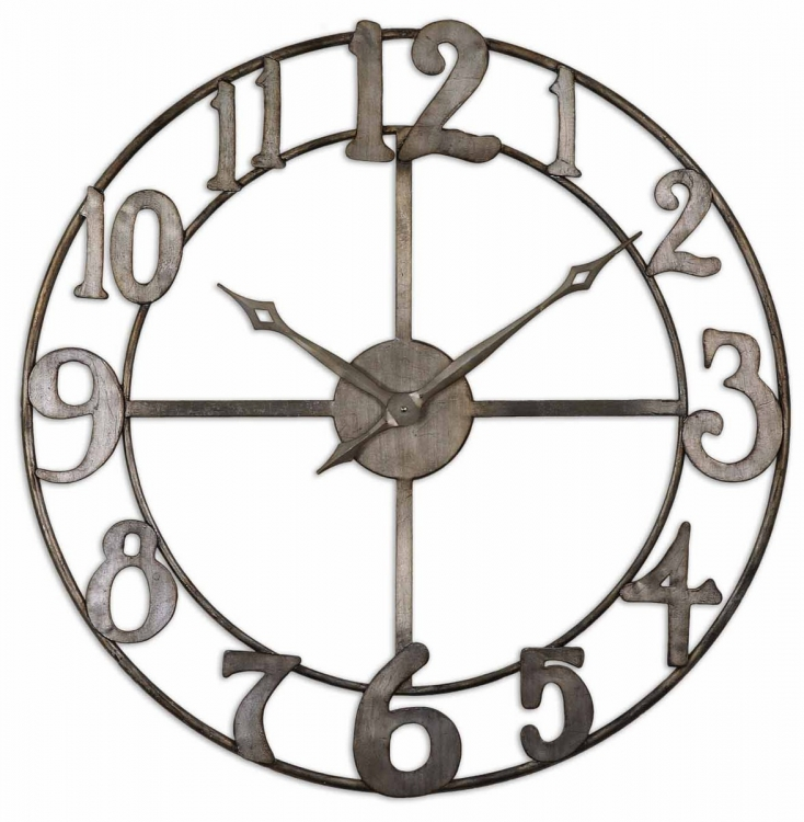 Delevan 32 Metal Wall Clock