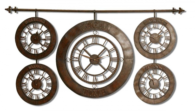 Time Zones Wall Clock