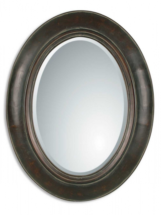 Tivona Oval Copper Mirror