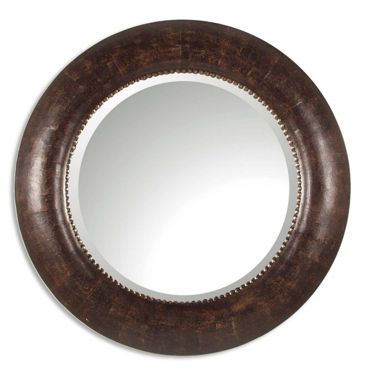 Leonzio Leather Mirror