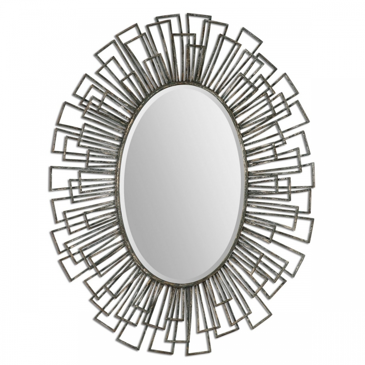 Alcinia Oval Metal Mirror
