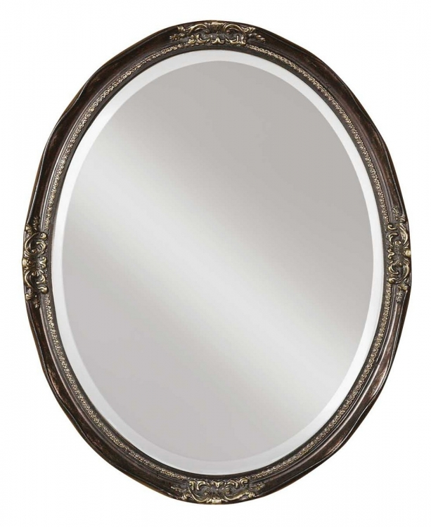 Newport Oval Bronze Mirror
