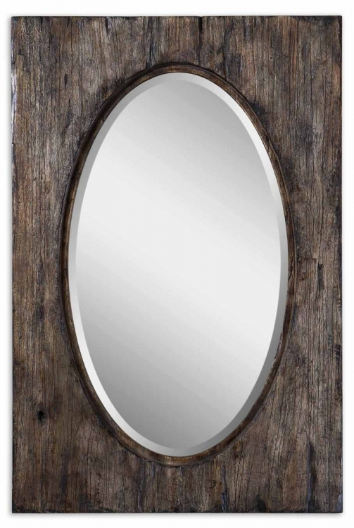 Hichcock Distressed Oval Mirror